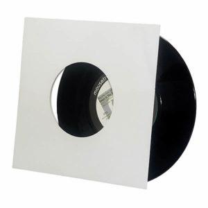 "7"" Card Sleeve White with Centerhole"