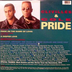 CLIVILLES & COLE – Pride ( In The Name Of Love )