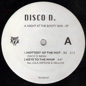 DISCO D – A Night At The Booty Bar EP