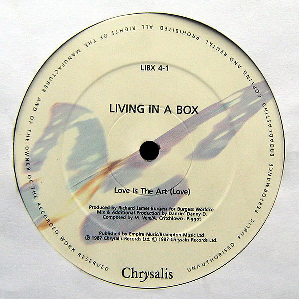 LIVING IN A BOX - Love Is The Art