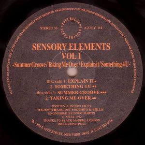 SENSORY ELEMENTS - Volume 1