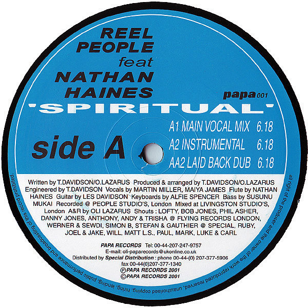REEL PEOPLE feat NATHAN HAINES - Spiritual