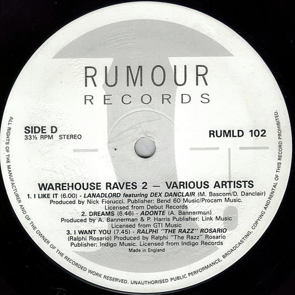 VARIOUS - Warehouse Raves 2