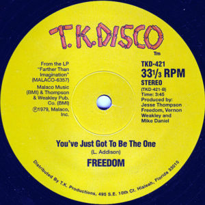FREEDOM – Get Up And Dance/You've Just Got To Be The One