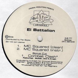 THE ARSONISTS & ANOMOLIES / EL BATTALION - Blacklisted/MC Squared
