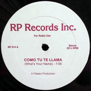 SLY FOX / WILLIE COLON - Como Tu Te Llama/Set Fire To Me