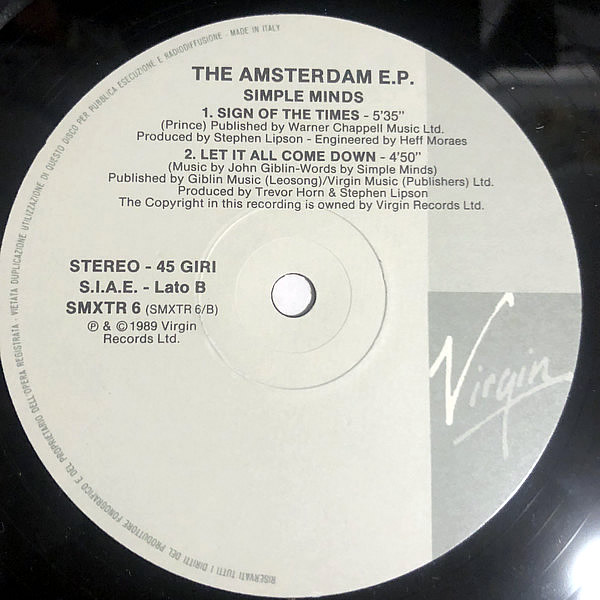 SIMPLE MINDS - The Amsterdam Ep