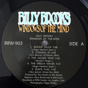 BILLY BROOKS – Windows Of The Mind