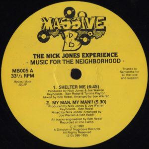 THE NICK JONES EXPERIENCE - Music For The Neighborhood