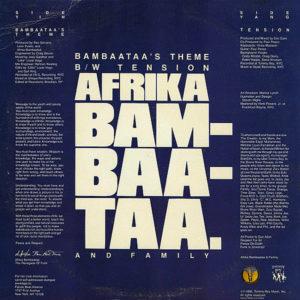 AFRIKA BAMBAATAA & FAMILY – Bambaataa's Theme/Tension