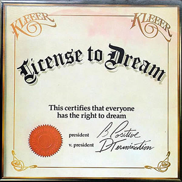Kleeer ‎– License To Dream