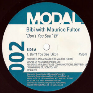 BIBI with MAURICE FULTON – Don't You See EP