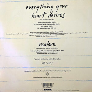 DARYL HALL & JOHN OATES – Everything Your Heart Desires