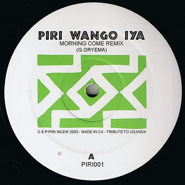 GEOFFRY ORYEMA / NABINTOU DIAKITE- Pri Wango Iya/Undesireable Remixes