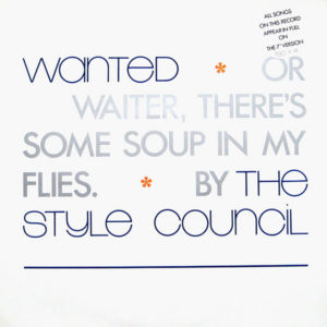 THE STYLE COUNCIL – Wanted Or Waiter, There's Some Soup In My Flies