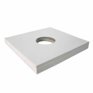 "12""/Lp Card Sleeve White with Centerhole"