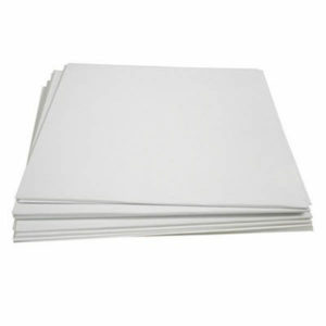 """12""""/LP Cardboard Sleeve Plain White with Spine"""