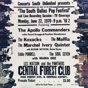 VARIOUS - Funk The South Dallas Pop Festival 1970