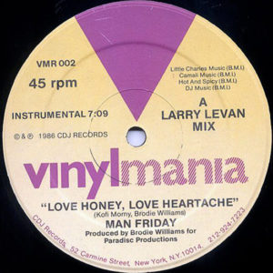 MAN FRIDAY – Love Honey, Love Heartache