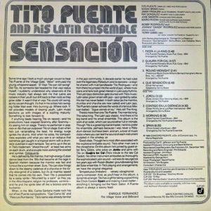 TITO PUENTE AND HIS LATIN ENSEMBLE – Sensacion