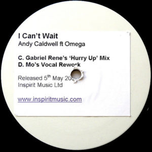 ANDY CALDWELL feat OMEGA – I Can't Wait