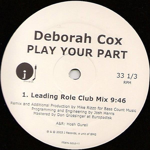 DEBORAH COX - Play Your Part
