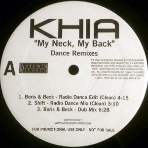 KHIA – My Neck, My Back Dance Remixes