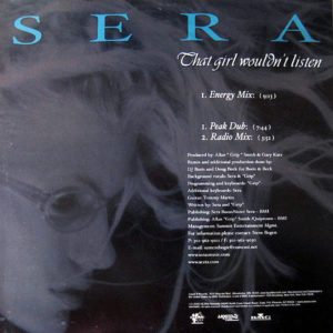 SERA – That Girl Wouldn't Listen