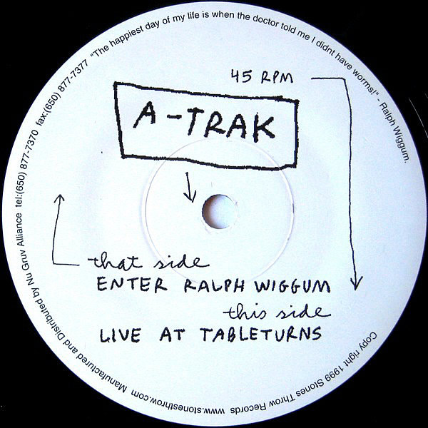 A-TRAK - Ralph Wiggum b/w Live @ Turntables