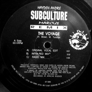 HAYDEN ANDRE' feat MARCUS presents SUBCULTURE – The Voyage
