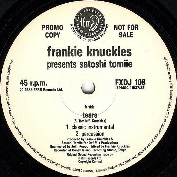 FRANKIE KNUCKLES presents SATOSHI TOMIIE feat ROBERT OWENS - Tears