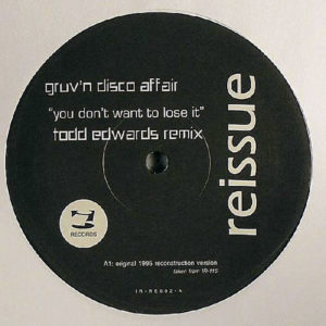 GRUV'N DISCO AFFAIR – You Don't Want to Lose It