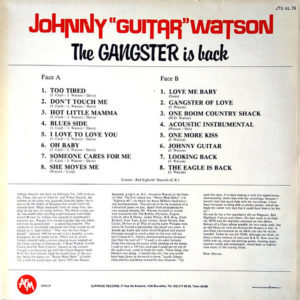 """JOHNNY """"GUITAR"""" WATSON – The Gangster Is Back"""