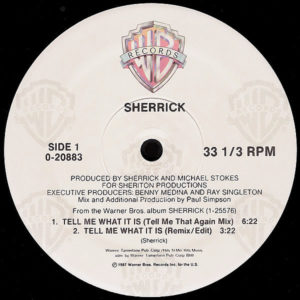 SHERRICK – Tell Me What It Is