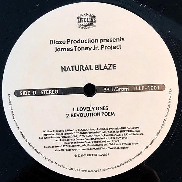 BLAZE PRODUCTION presents JAMES TONEY JR PROJECT - Natural Blaze