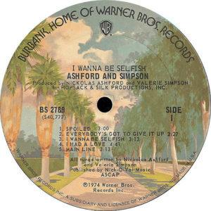 ASHFORD & SIMPSON – I Wanna Be Selfish
