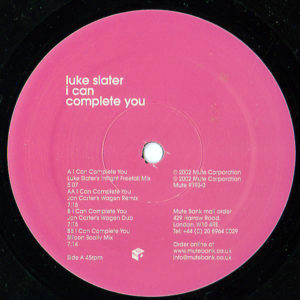 LUKE SLATER – I Can Complete You