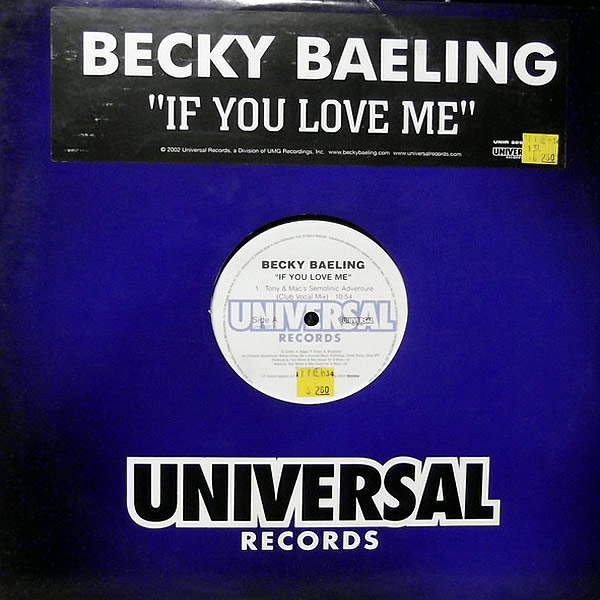BECKY BAELING - If You Love Me