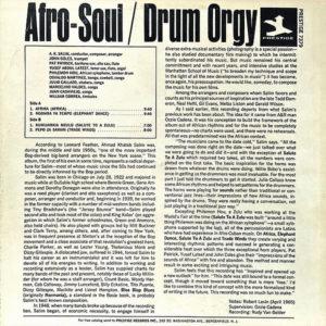 A.K. SALIM presents AFRO-SOUL – Drum Orgy