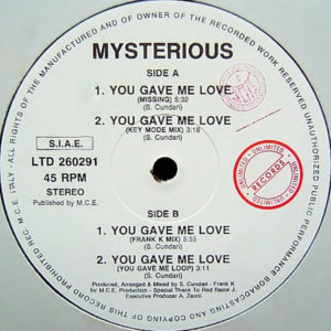 MYSTERIOUS - You Gave Me Love
