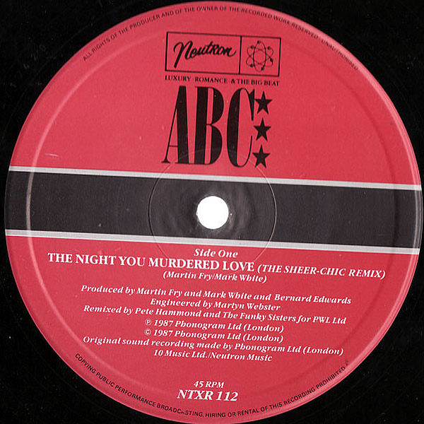 ABC - The Night You Murdered Love