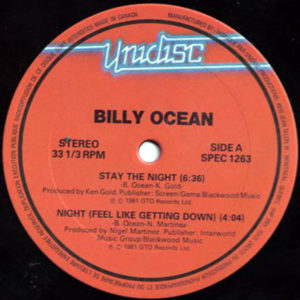 BILLY OCEAN/THIRD WORLD – Stay The Night/Night ( Feel Like Getting Down )/Try Jah Love