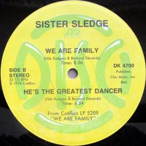 CHIC / SISTER SLEDGE – Dance, Dance, Dance ( Yowsah, Yowsah, Yowsah )/Everybody Dance/We Are Family/He's The Greatest Dancer