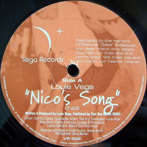 LOUIE VEGA - Nico's Song/Africa/Brasil