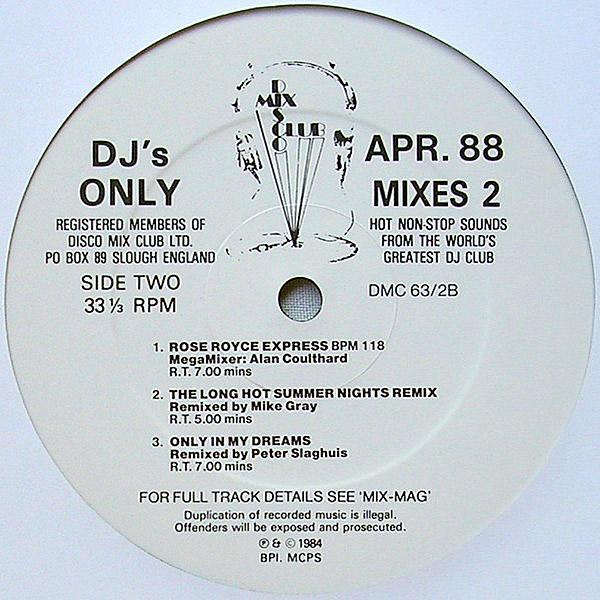 VARIOUS - DMC Previews April 1988 Mixes 2